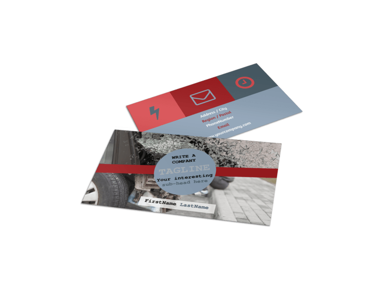 Collision Repair Business Card Template Preview 1