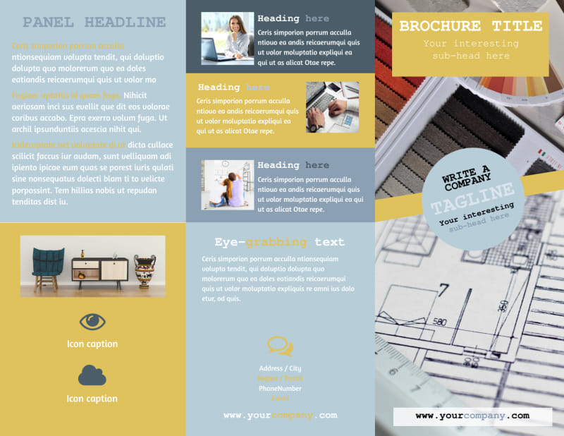 Interior Designer Brochure Template Preview 2