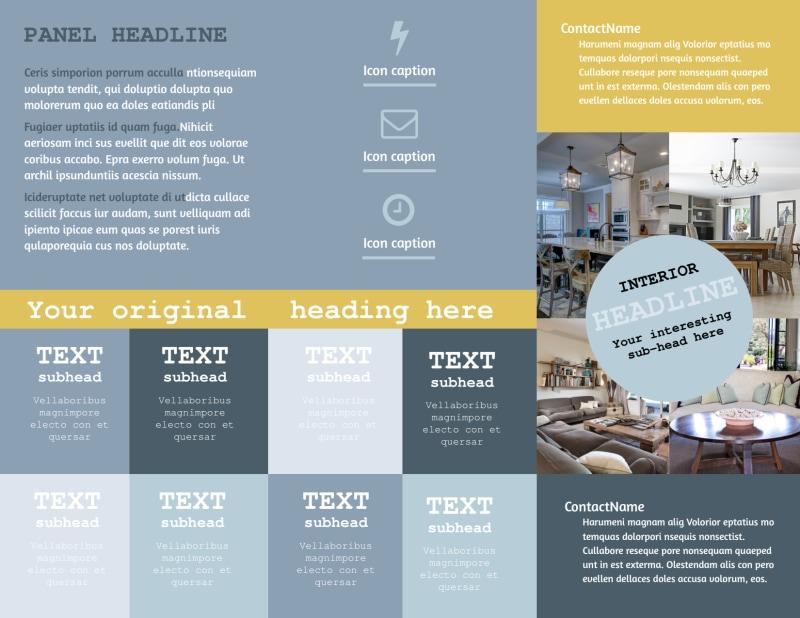 Interior Designer Brochure Template Preview 3
