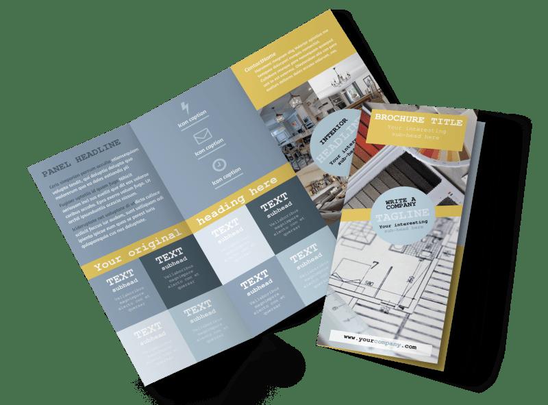 Interior Designer Brochure Template Preview 1