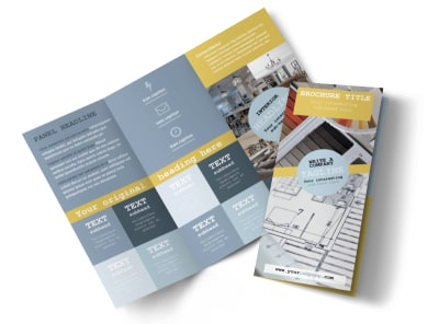 Interior Designer Tri-Fold Brochure Template preview