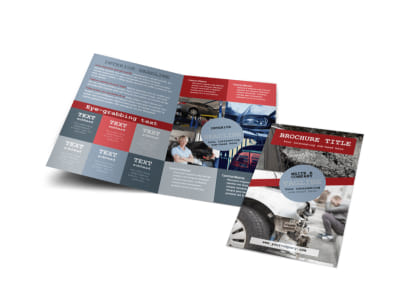 Collision Repair Bi-Fold Brochure Template preview