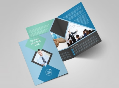 Local Business Consulting Bi-Fold Brochure Template 2