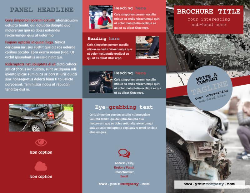 Collision Repair Brochure Template Preview 2