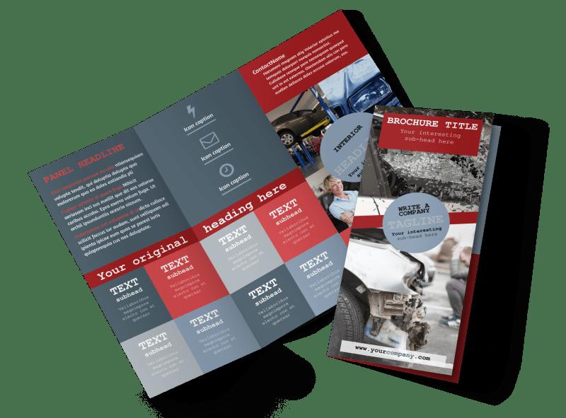 Collision Repair Brochure Template Preview 1