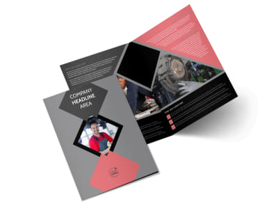 Auto Tech School Bi-Fold Brochure Template 2
