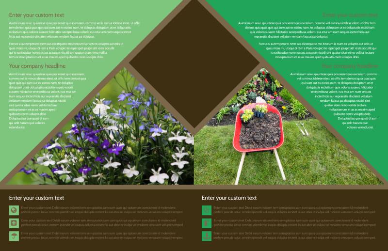 Garden Clubs Brochure Template Preview 3