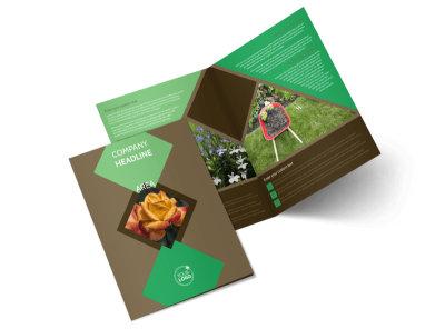 Garden Clubs Bi-Fold Brochure Template 2