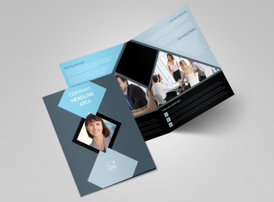 Public Relations Firm Bi-Fold Brochure Template 2