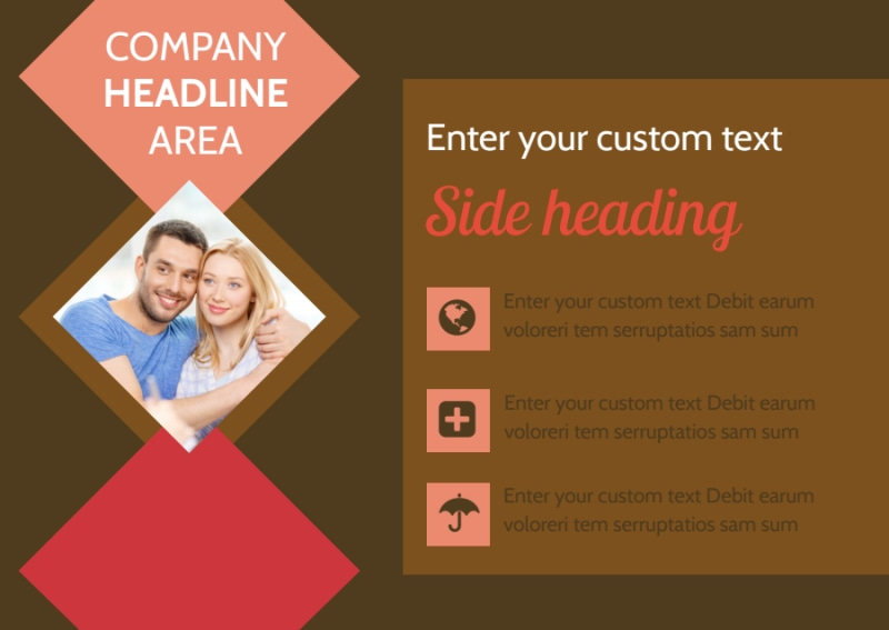 Family & Marriage Counseling Postcard Template Preview 2