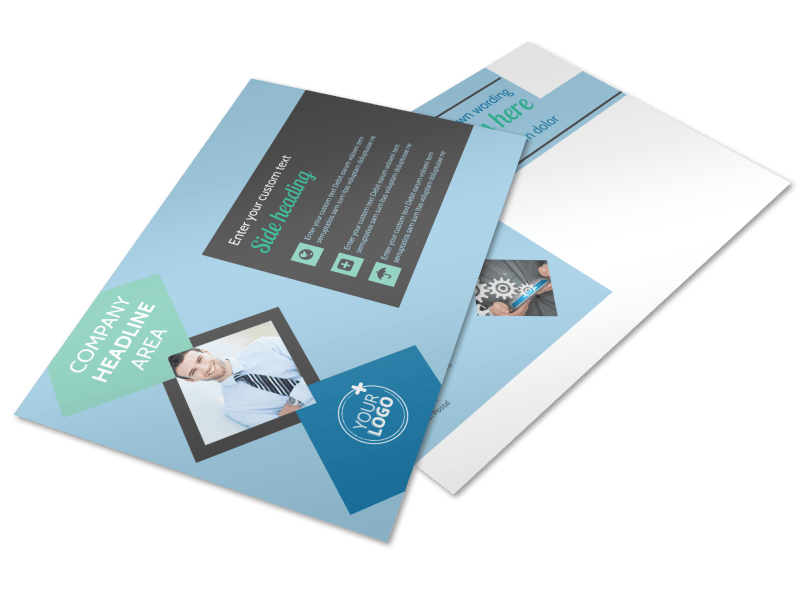 Local Business Consulting Postcard Template Preview 1