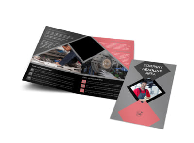 Auto Tech School Bi-Fold Brochure Template