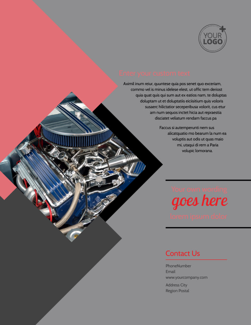 Auto Tech School Flyer Template Preview 3