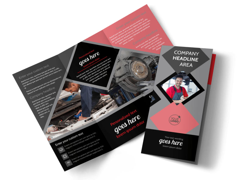 Auto Tech School Brochure Template  Mycreativeshop