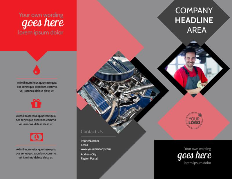 Auto Tech School Brochure Template Preview 2