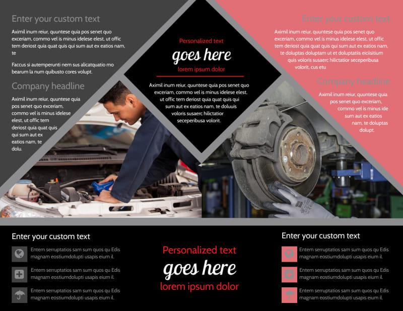 Auto Tech School Brochure Template Preview 3
