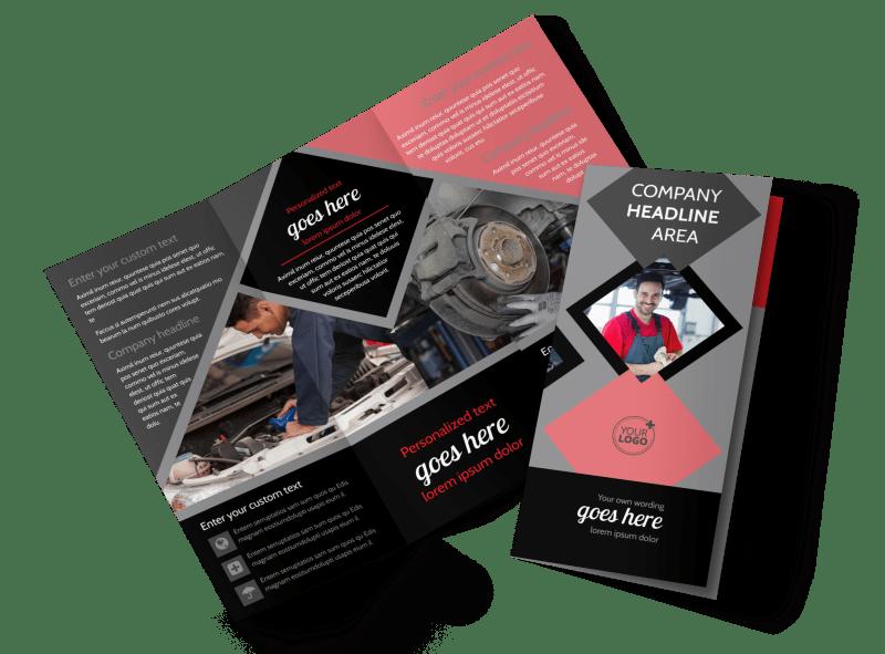 Auto Tech School Brochure Template Preview 1