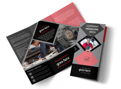 Auto Tech School Tri-Fold Brochure Template