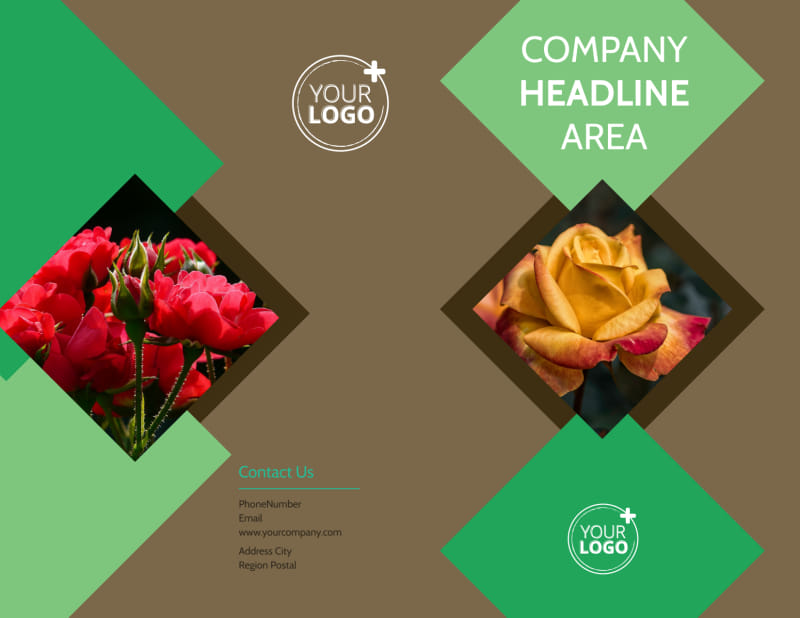 Garden Clubs Brochure Template Preview 2