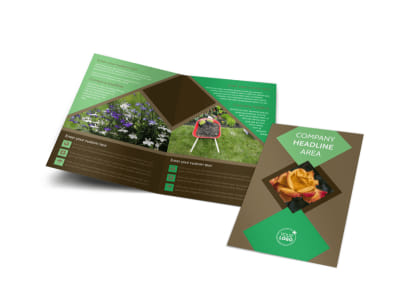 Garden Clubs Bi-Fold Brochure Template preview