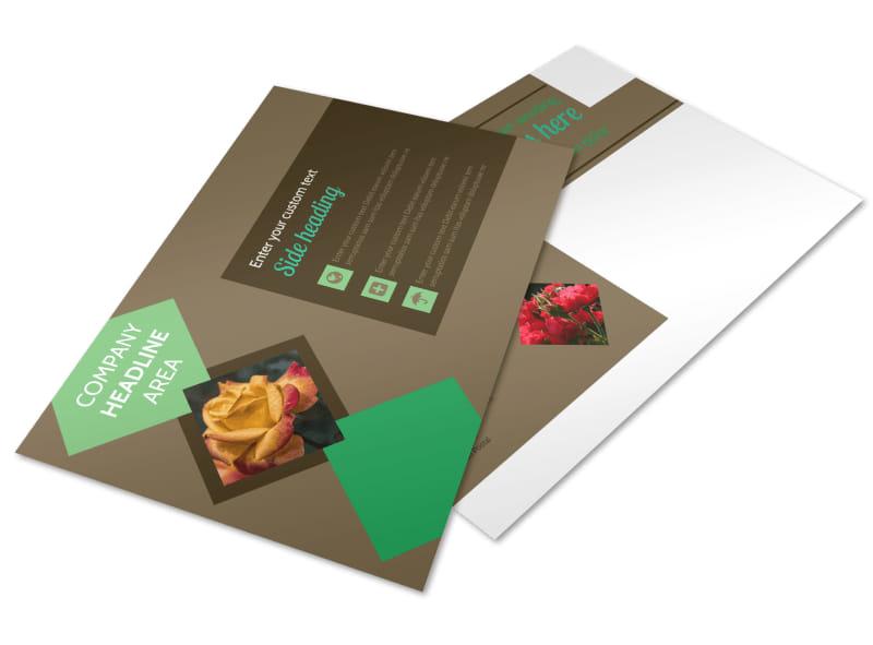 Garden Clubs Postcard Template