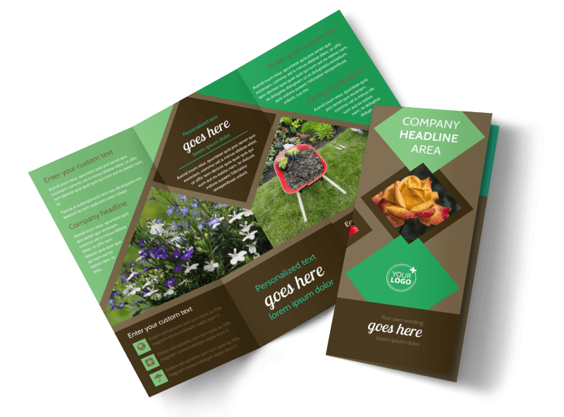 Garden Clubs Brochure Template Preview 1