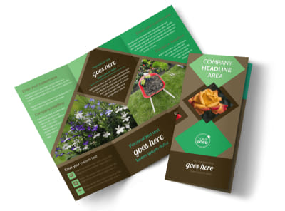 Garden Clubs Tri-Fold Brochure Template preview