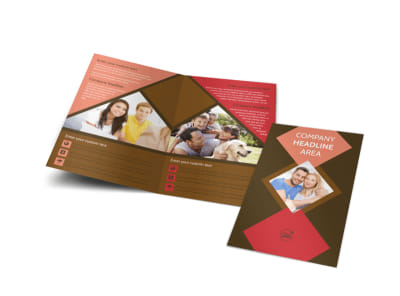 Family & Marriage Counseling Bi-Fold Brochure Template preview