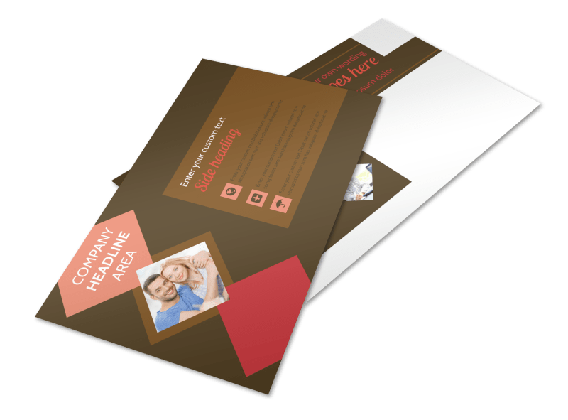 Family & Marriage Counseling Postcard Template Preview 1