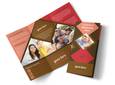 Family & Marriage Counseling Tri-Fold Brochure Template preview