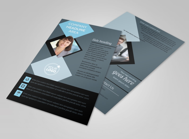 Public Relations Firm Flyer Template 3