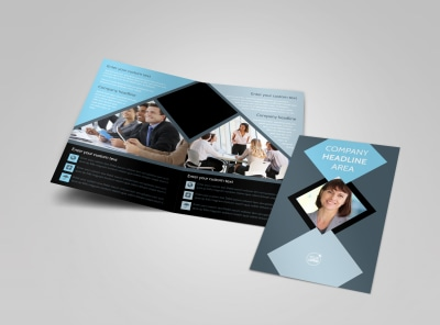 Public Relations Firm Bi-Fold Brochure Template