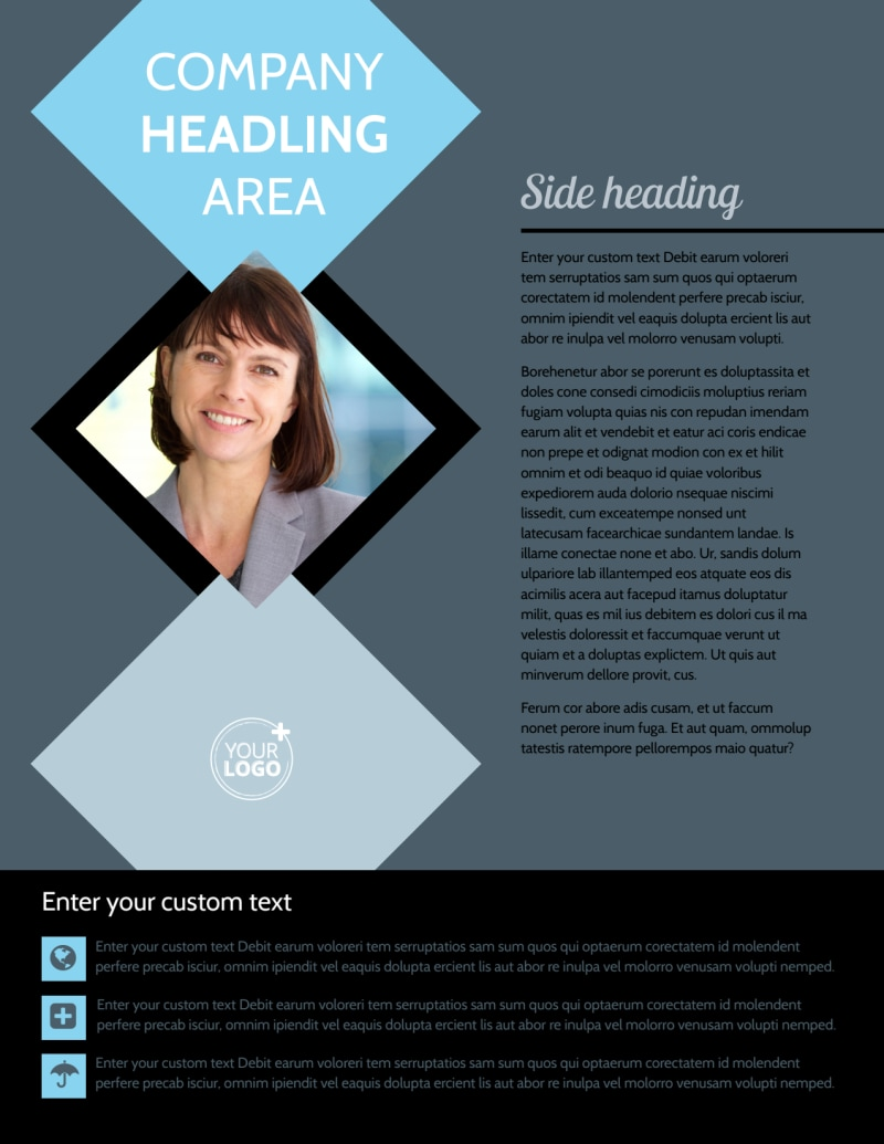 Public Relations Firm Flyer Template Preview 2