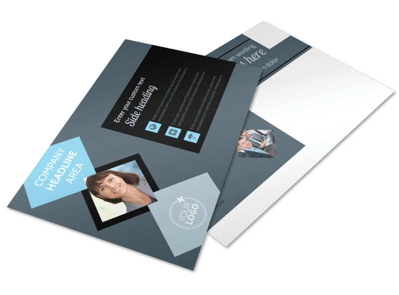 Public Relations Firm Postcard Template Preview 1
