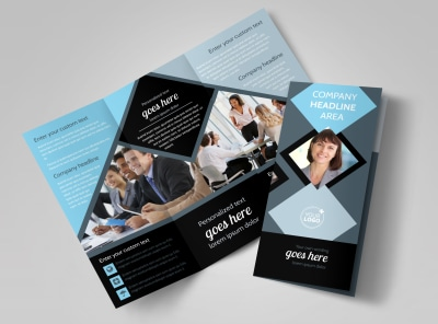 Public Relations Firm Tri-Fold Brochure Template