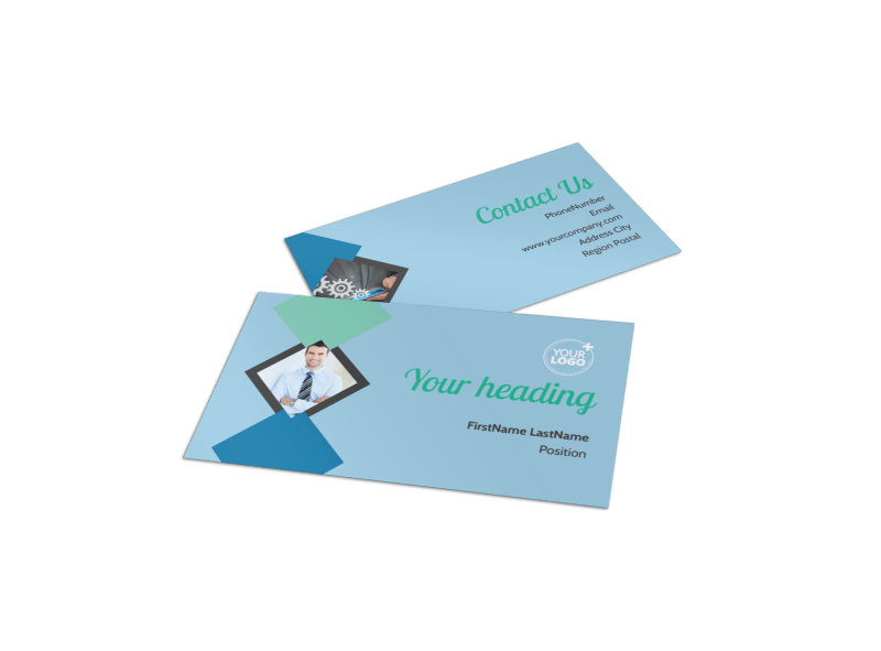 Local Business Consulting Business Card Template Preview 1