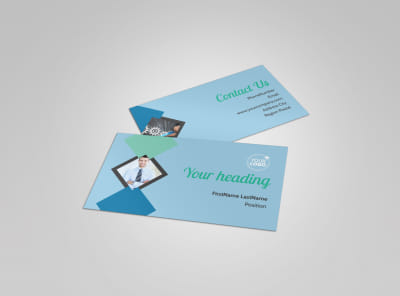 Local Business Consulting Business Card Template