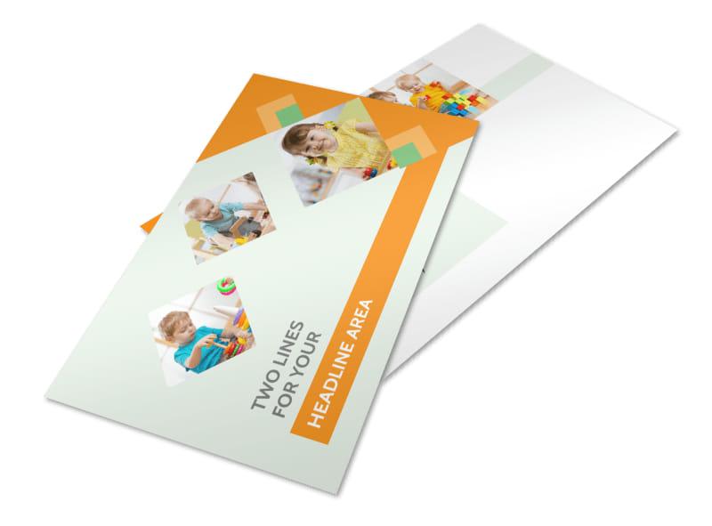 Preschool Kids & Day Care Postcard Template 2