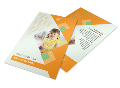 Preschool Kids & Day Care Flyer Template 3 preview