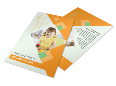 Preschool Kids & Day Care Flyer Template 3