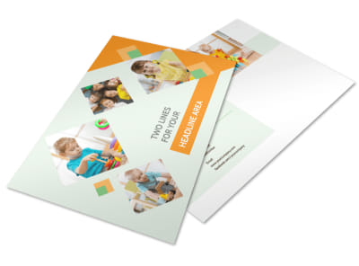 Preschool Kids & Day Care Postcard Template