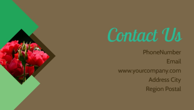 Garden Clubs Business Card Template Preview 3