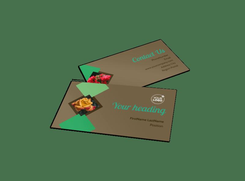 Garden Clubs Business Card Template Preview 1