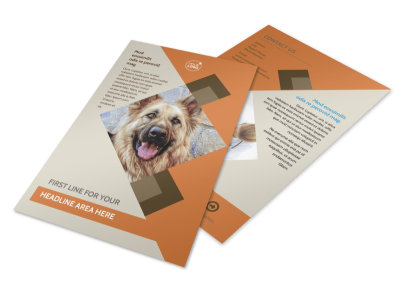 Animal Charity Flyer Template 3