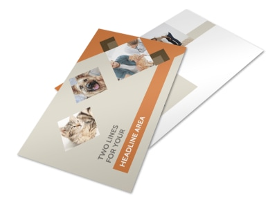 Animal Charity Postcard Template 2