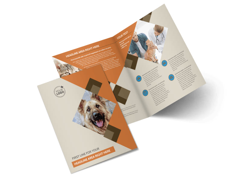 Animal Charity Bi-Fold Brochure Template 2