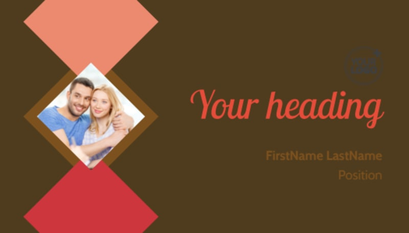 Family & Marriage Counseling Business Card Template Preview 2