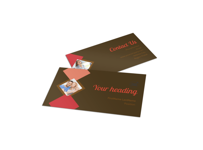 Family & Marriage Counseling Business Card Template Preview 1