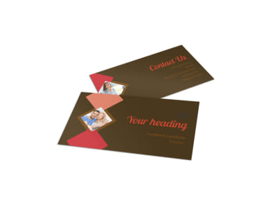 Family & Marriage Counseling Business Card Template preview
