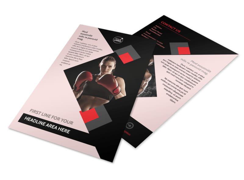 Boxing Gym Flyer Template 3